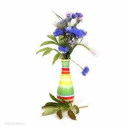 Декоративная посуда - Керамическая полосатая вазочка, 0