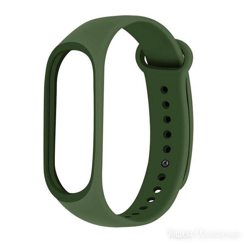 No Brand Ремешок силиконовый для Xiaomi Mi Band 4 темно-зеленый по цене 250₽ - Аксессуары для умных часов и браслетов, фото 0