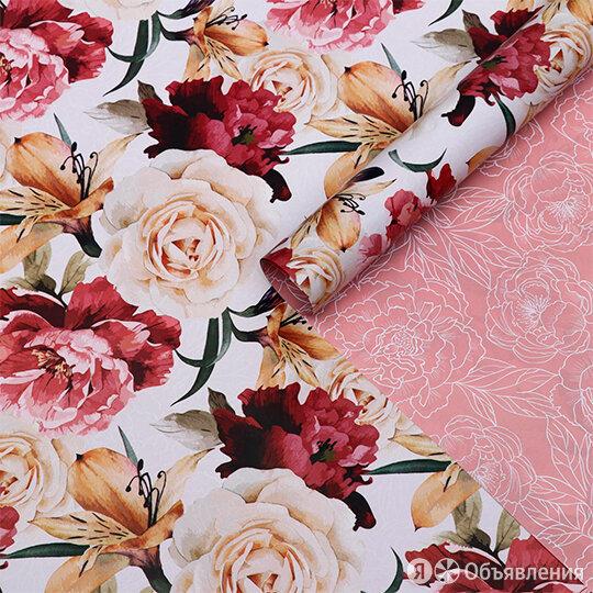 Бумага глянцевая двухстороняя 'Flowers in white', 2 листа по цене 130₽ - Подарочные наборы, фото 0