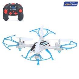 Квадрокоптеры - Квадрокоптер радиоуправляемый SKYDRONE, работает от аккумулятора, цвет синий, 0