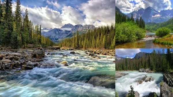 Горные реки: фото и обои на рабочий стол