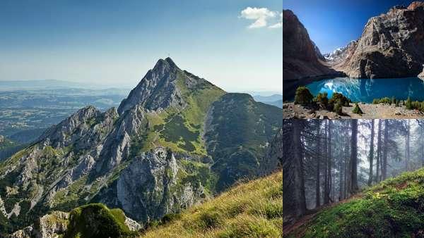 Летние пейзажи гор
