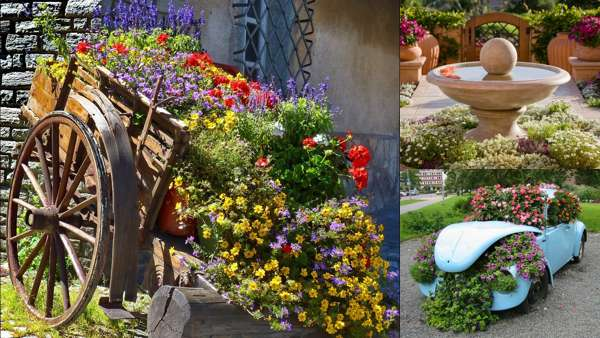 Оригинальные идеи оформления сада