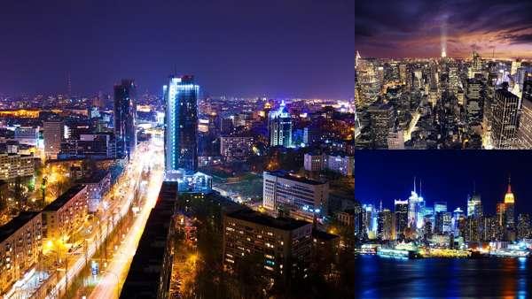 Городские пейзажи мегаполисов