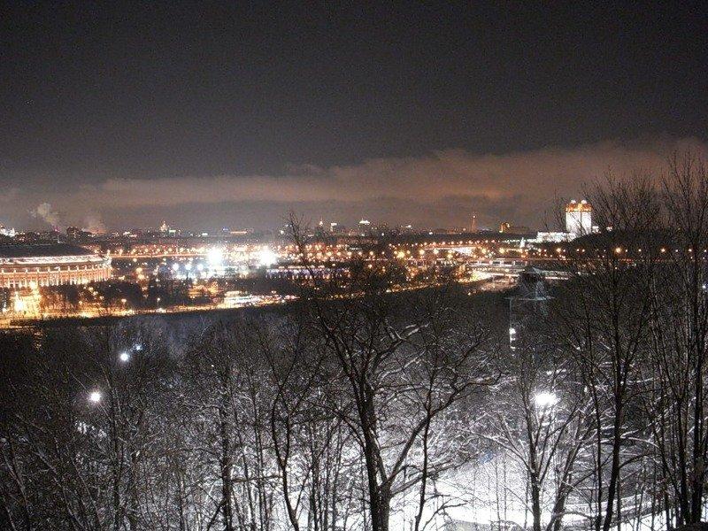 воробьевы горы фото зимой ночью кросс автомобильные
