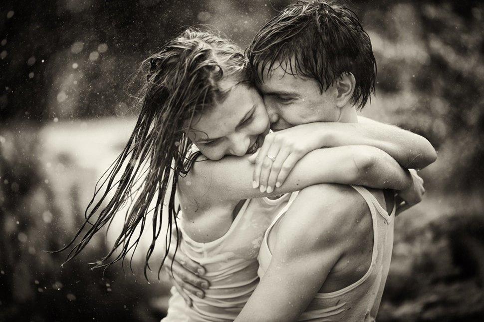 Думаю тебе, картинки двое под дождем любовь