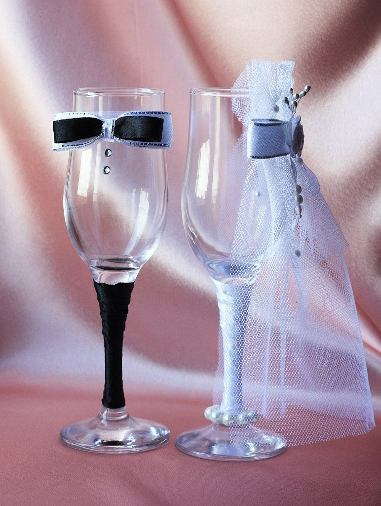 Картинки фужеров на свадьбу своими руками