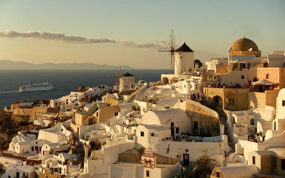 одежда фото деревни ия в греции остров санторини день слепых