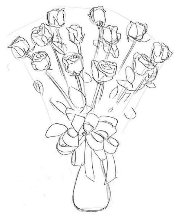 Доставка букетов, малюємо троянди букети