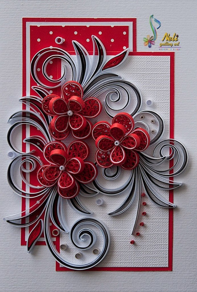 Квилинг украсить открытку, открытки иркутск