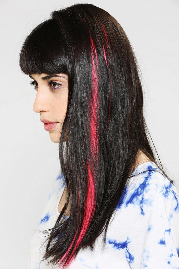 изготовление цветные пряди на черных волосах фото фишках был пост