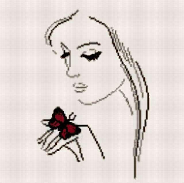 Вышивка крестом девушки по схемам 92