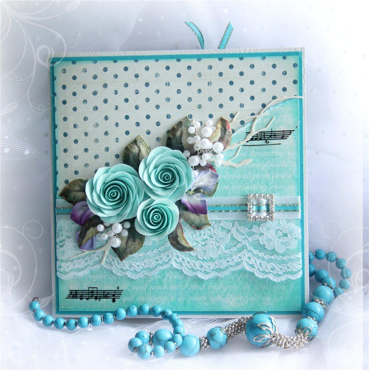 Поздравительных открыток, открытка с цветами скрапбукинг мастер