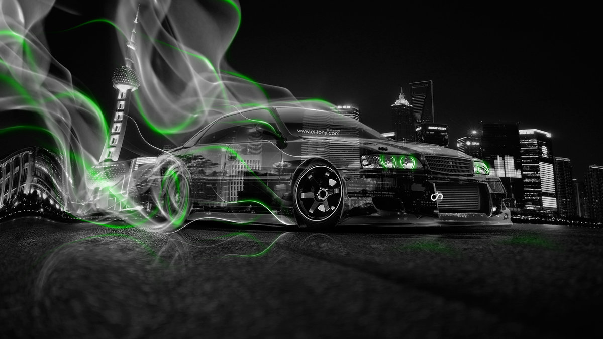 Toyota Chaser JZX100 JDM Crystal City Smoke Drift