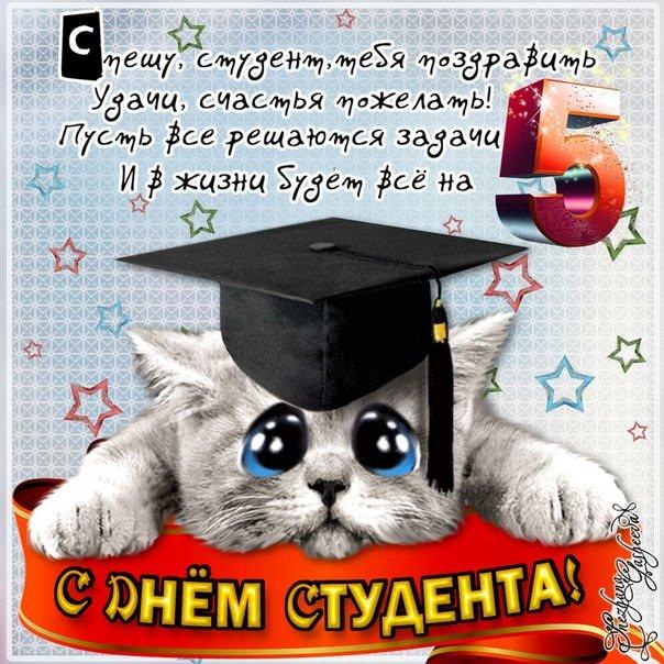 Поздравить бывших студентов с татьяниным днем