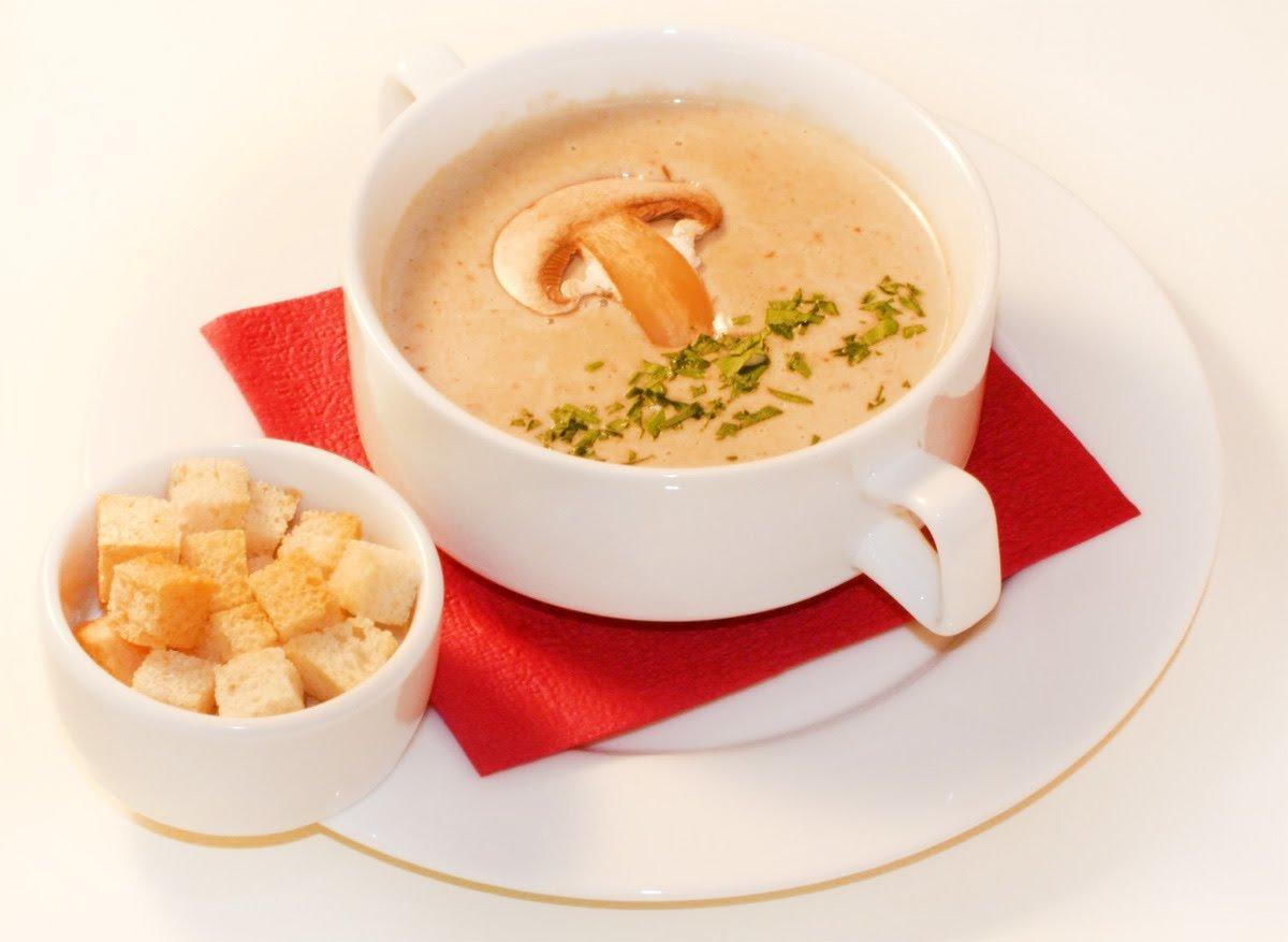 суп пюре из шампиньонов со сливками рецепт в мультиварке