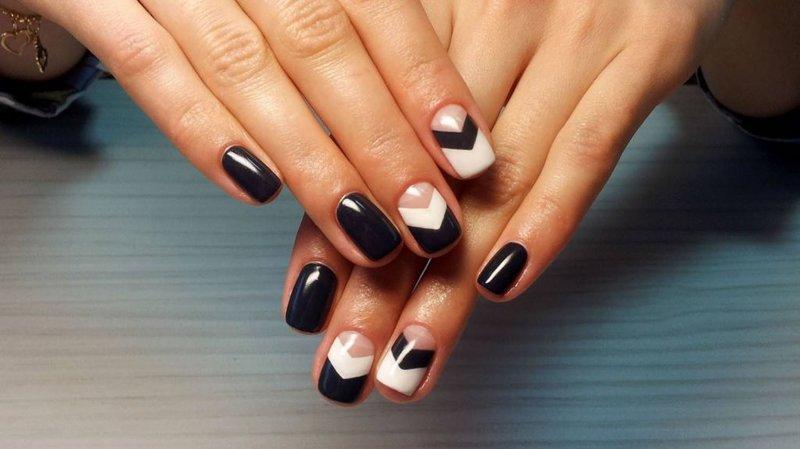 Покрытие черный ШЕЛЛАК на ногтях ФОТО 2014 79