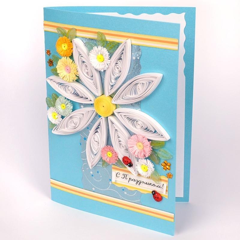 Квиллинг открытки с ромашками, открытки советские открытки