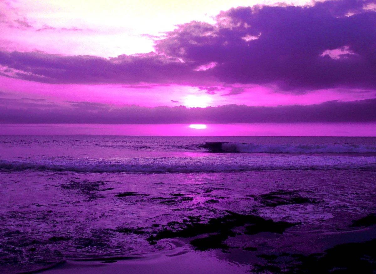 Открытка, картинки фиолетовый закат
