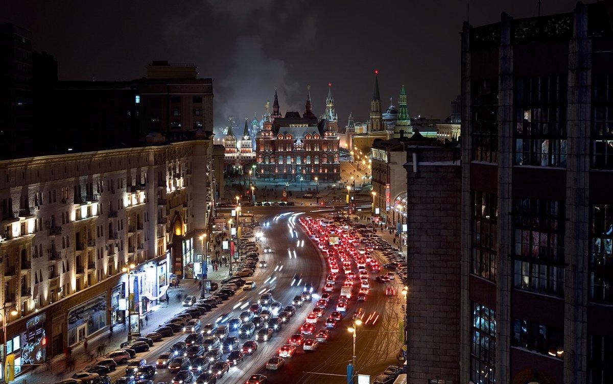 Ночные улицы москвы фото