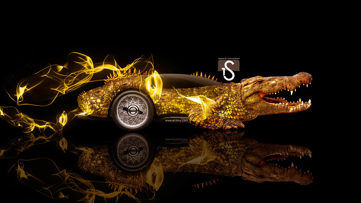 Fantasy Crocodile Animal Side Super Energy Art Car