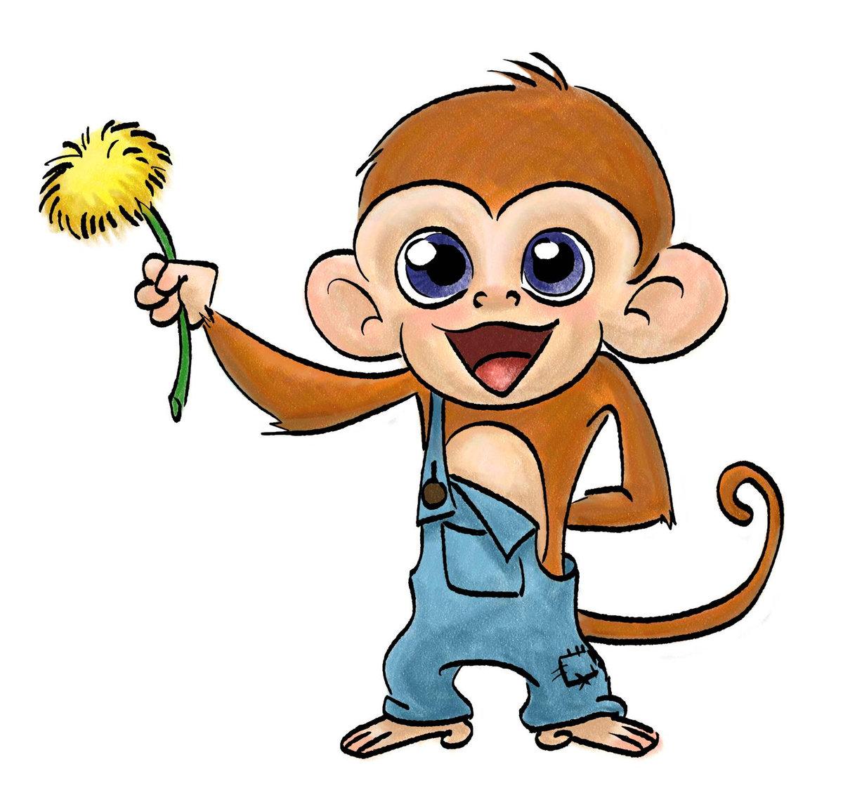 Февраля, рисунки обезьянок смешные