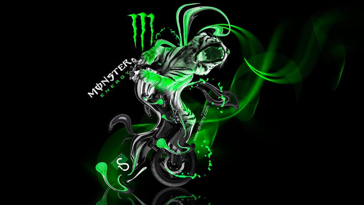 Elegant Monster Energy Moto Yamaha Vmax Fantasy Green Neon