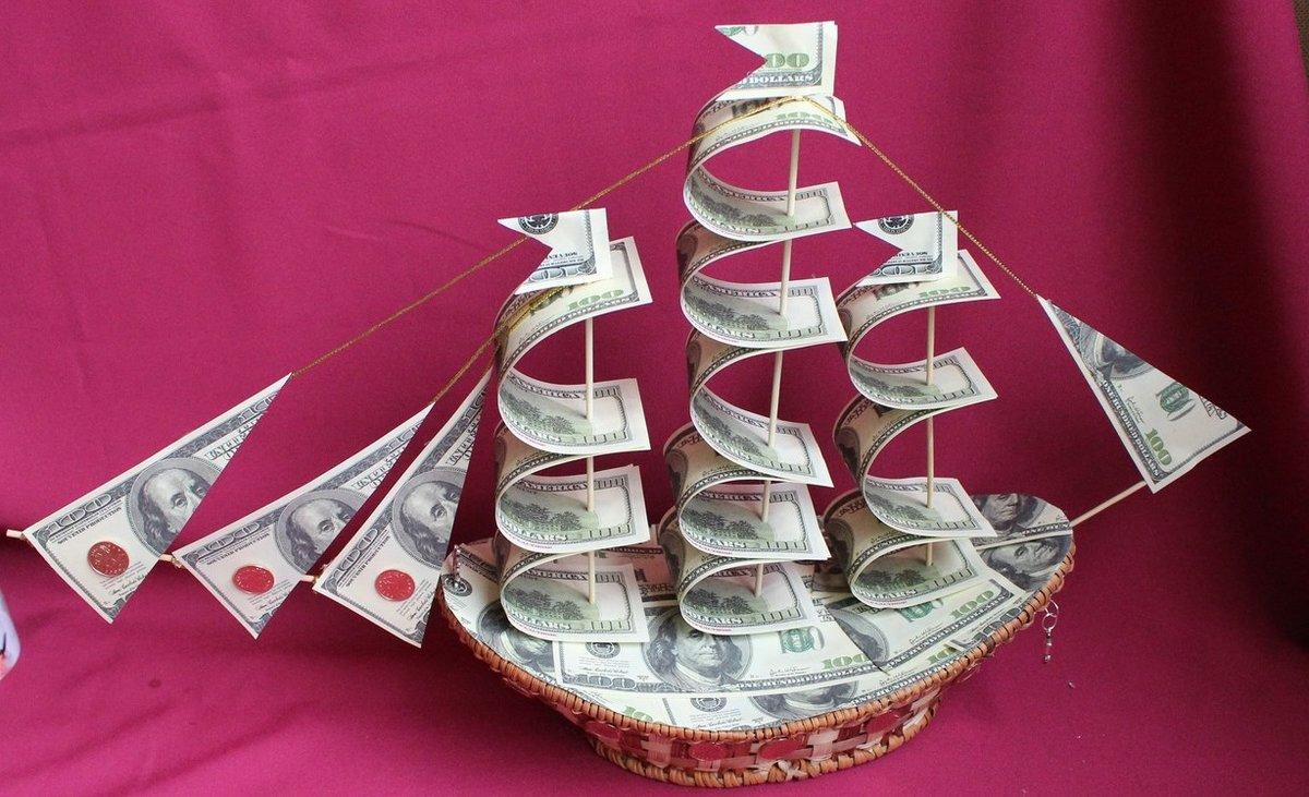 всех фото как сделать денежный корабль написали