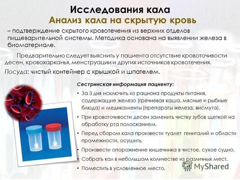 Сдают анализ кровь на что скрытую крови хгч 10 анализ