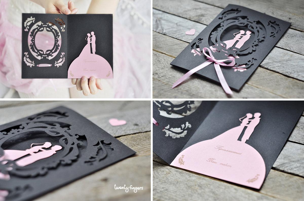 Креативная открытка на свадьбу