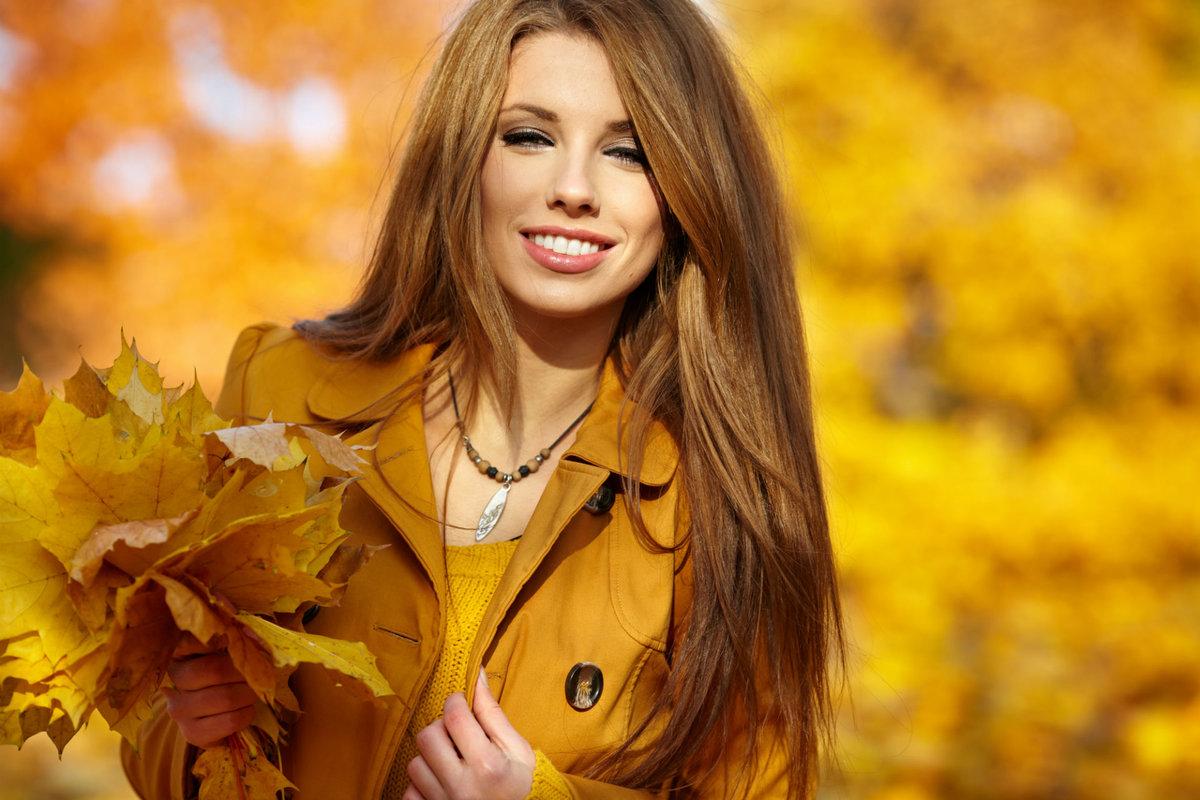 Картинки фото осень девушка