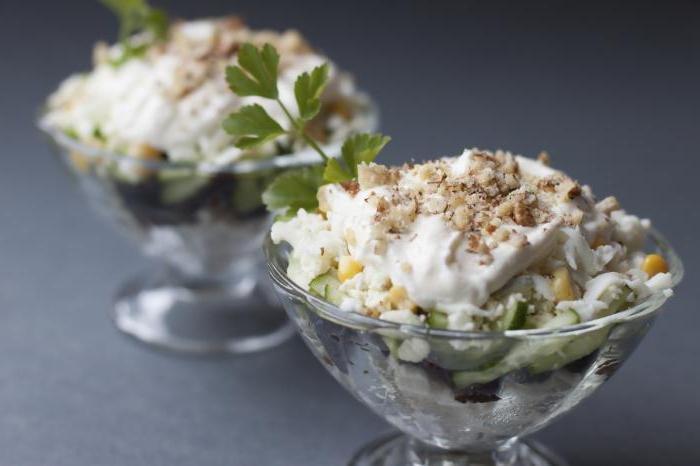 Вкусные салаты в креманках на день рождения с фото