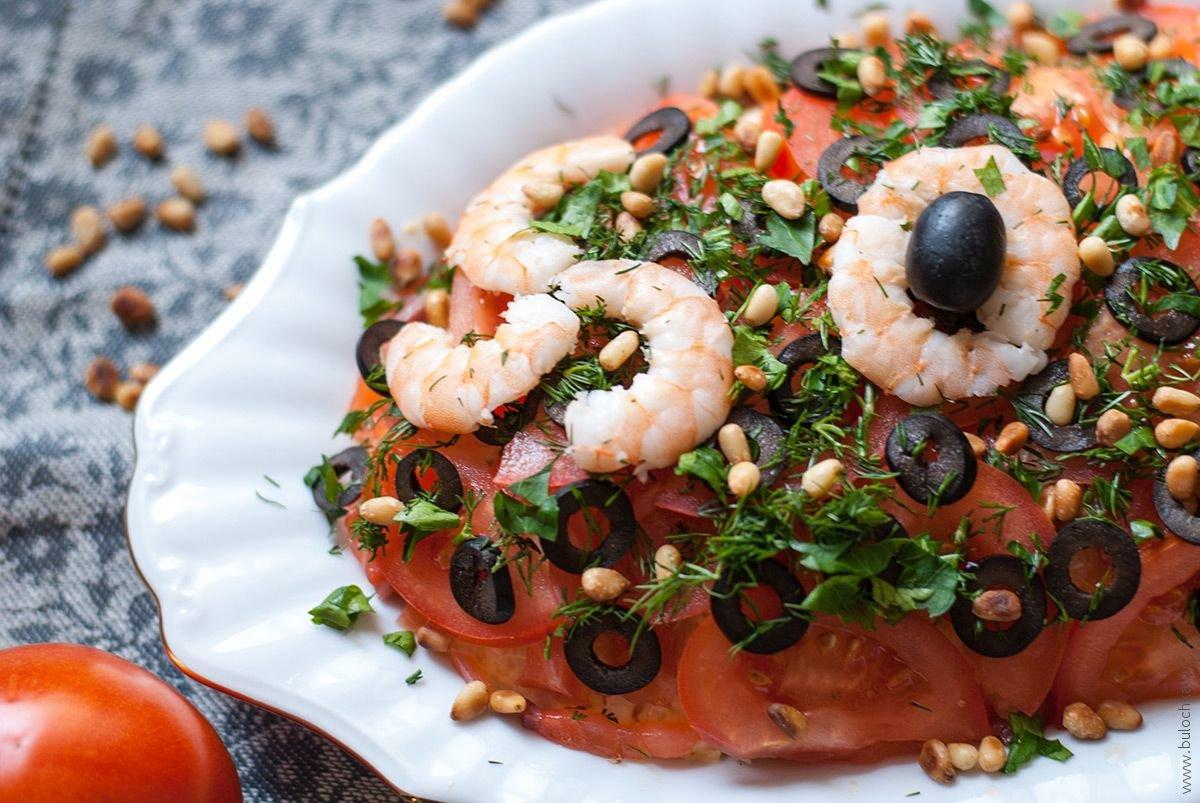 Салат из морепродуктов рецепт с фото слоеный