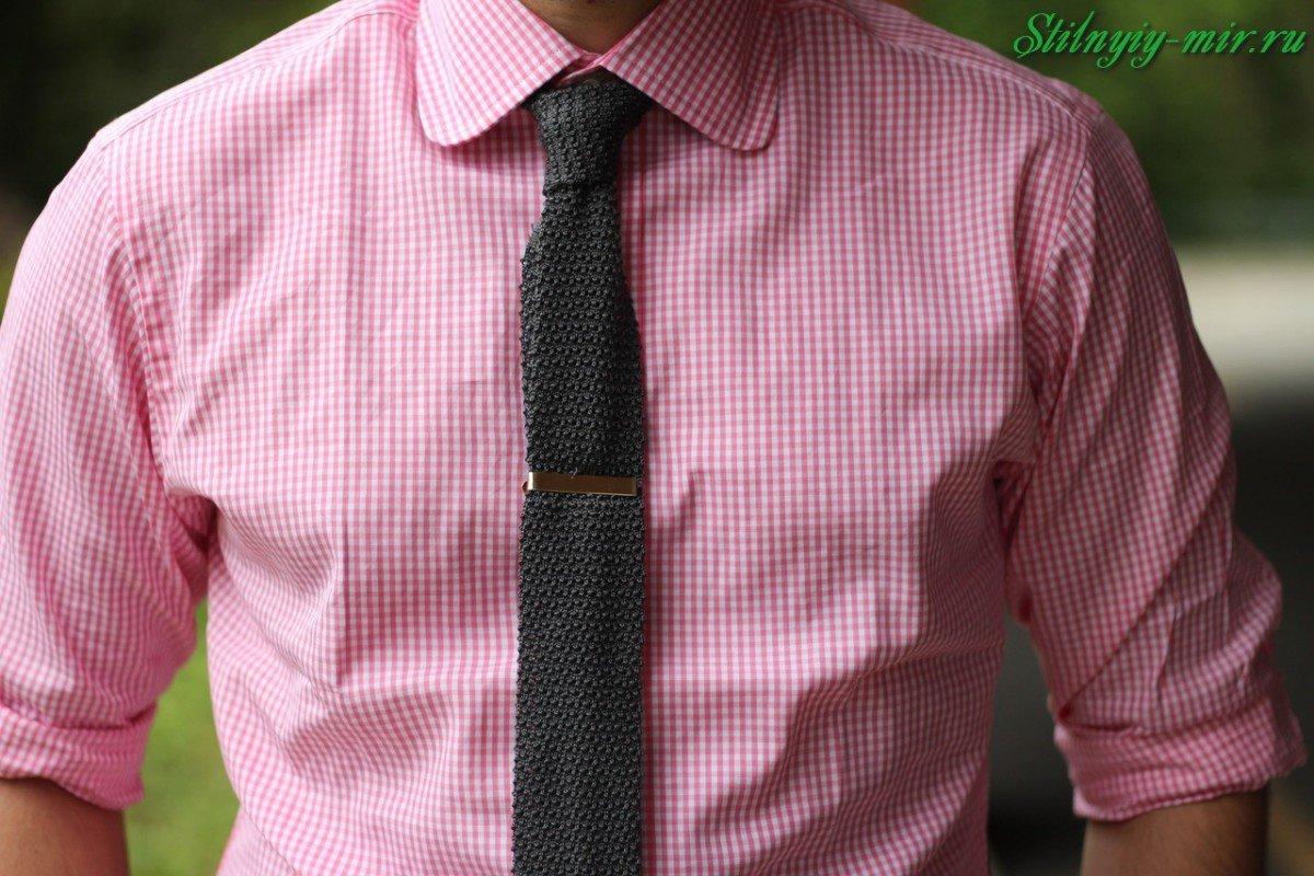вязаный галстук фото нас