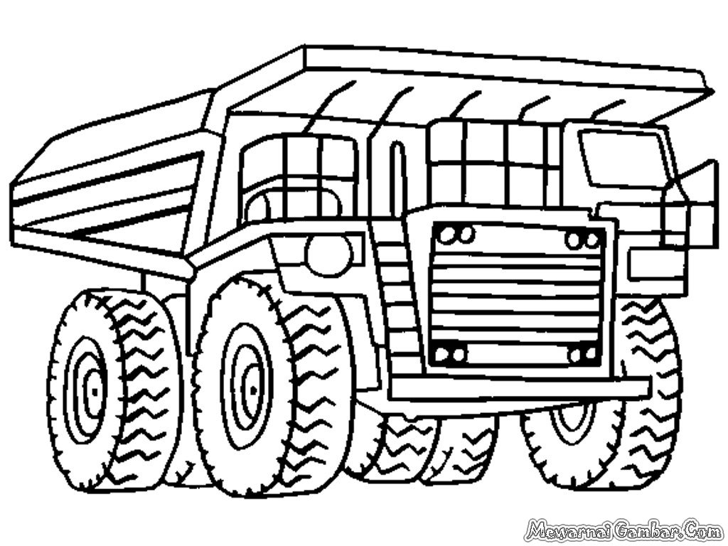 Monster Truck Coloring Pages Construction Truck Coloring Pag Card