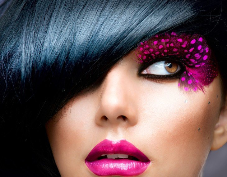 Avant Garde Makeup Is Popular In Print And Online Magazines Card