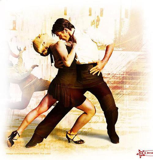 Открытки с танцующими танго