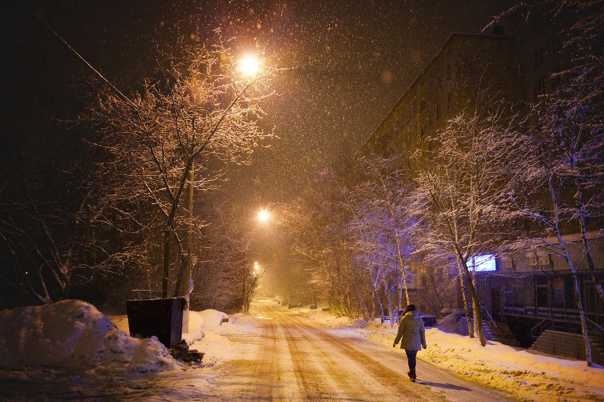 Фото зима в городе люди город
