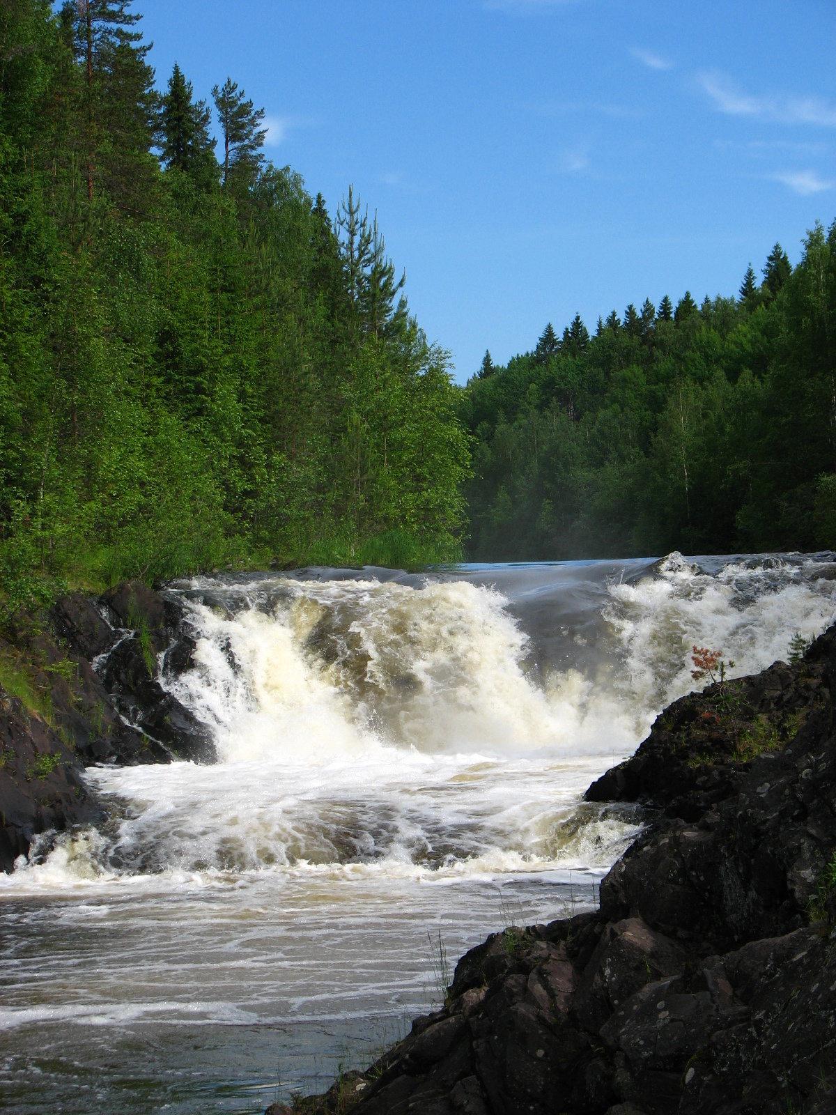 картинка водопада кивач молодом