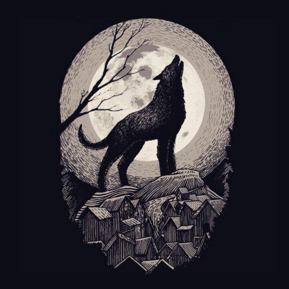 Картинки, гравюры картинки с волком