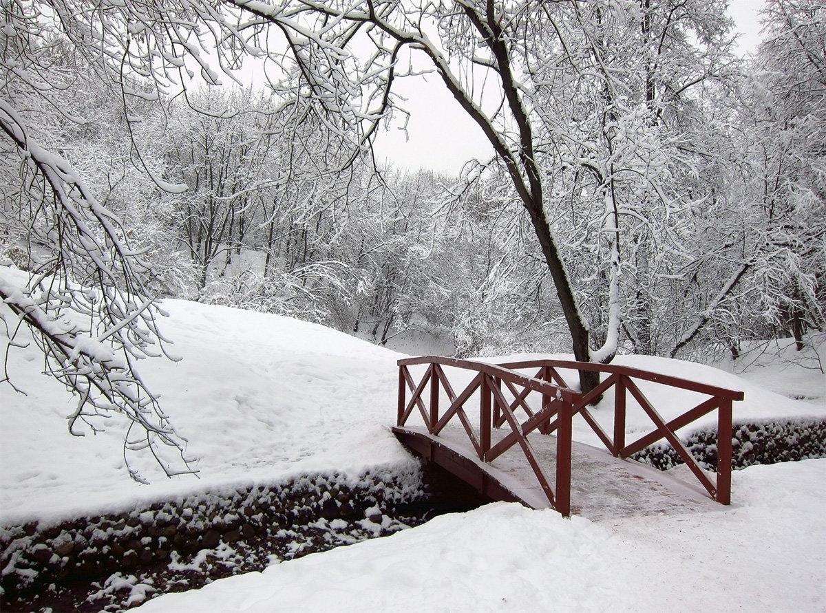 зимняя мостовая картинки чугуне