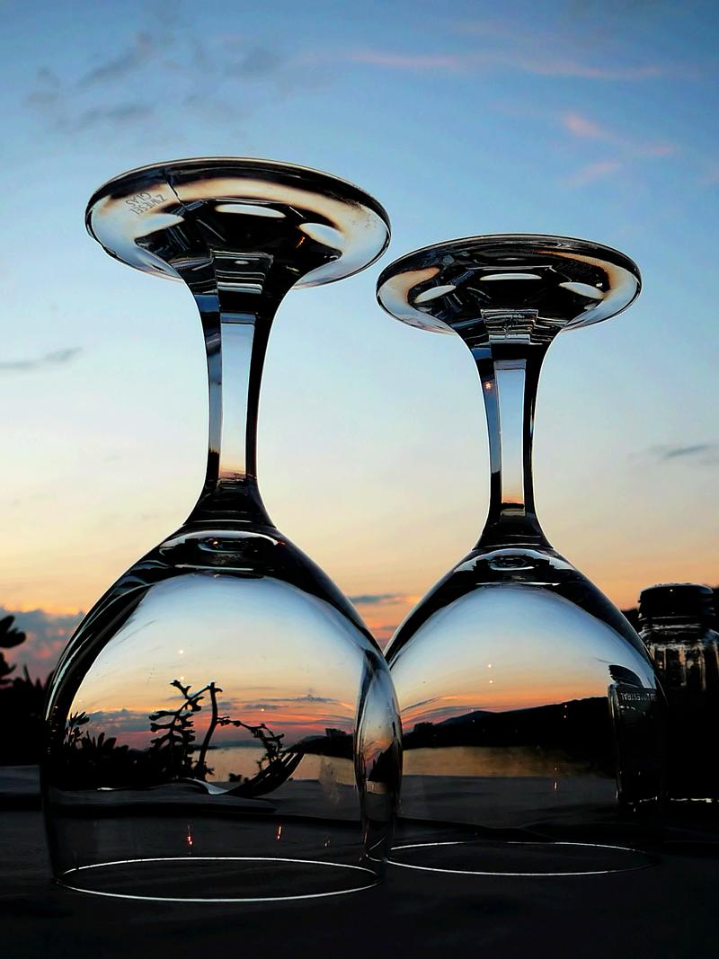 Два бокала заката #бокал #закат #море