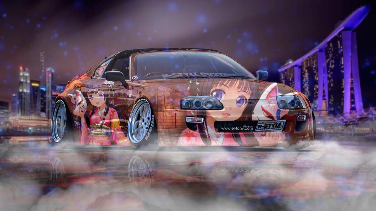 Toyota Supra JZA80 JDM Tuning 3D N Style