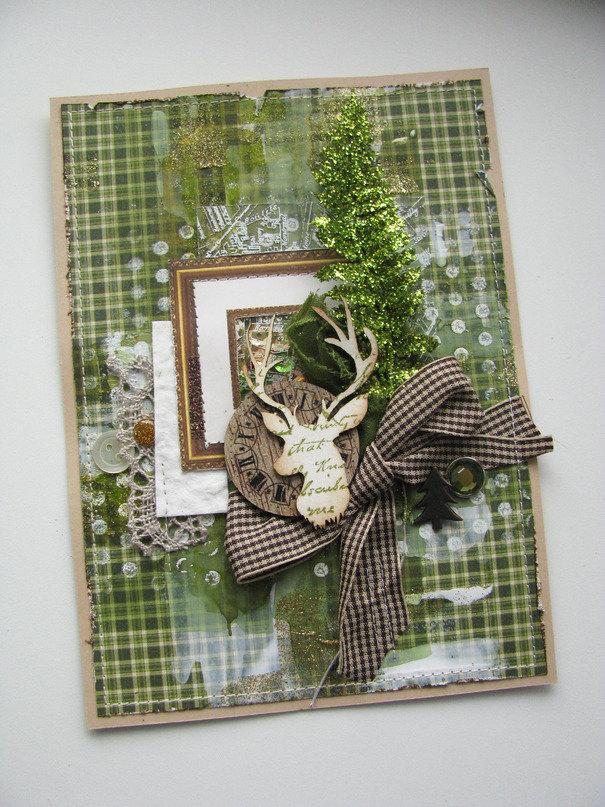 Красивые флеш, олень для открытки скрапбукинг