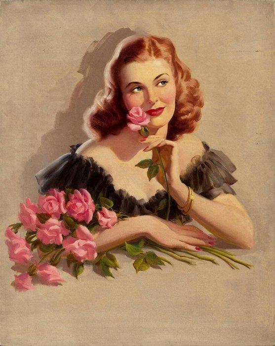 Женщина картинка открытка