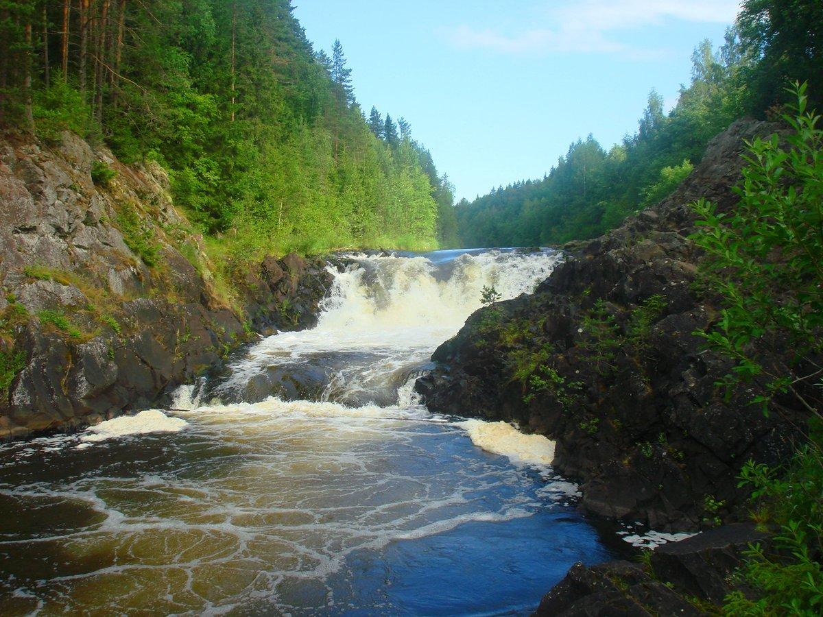 картинка водопада кивач есть какие