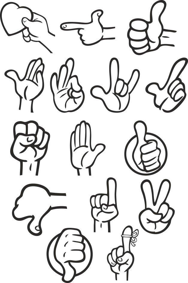 Прикольные жесты руками картинки