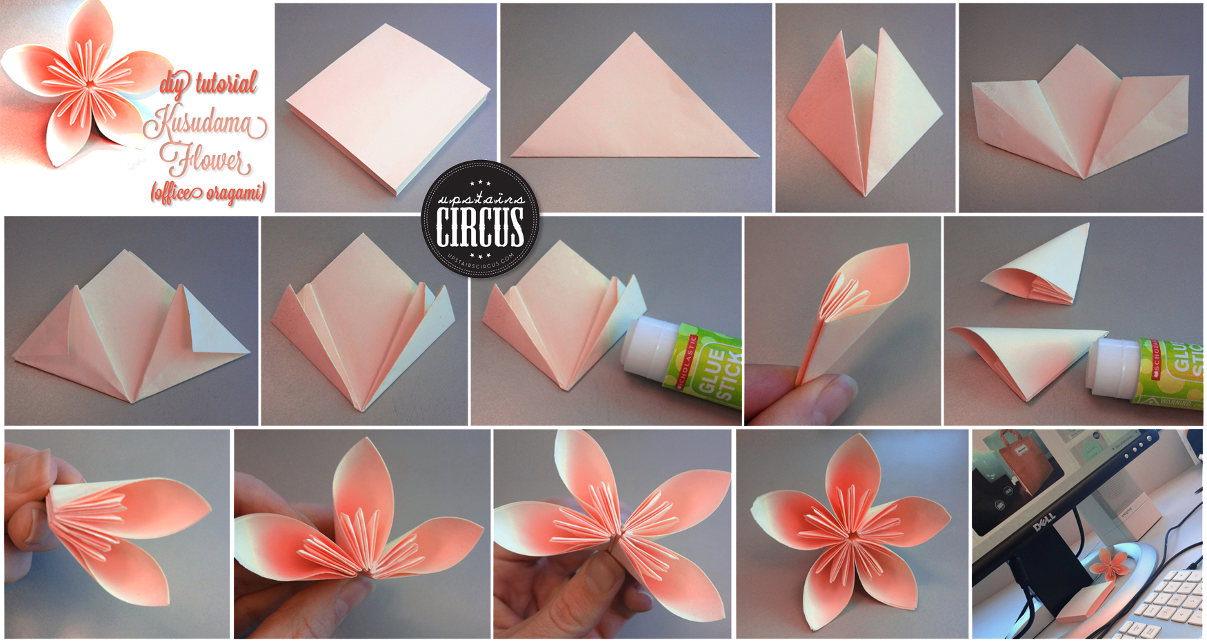 Origami How To Make An Easy Origami Flower Origami Instructi Card