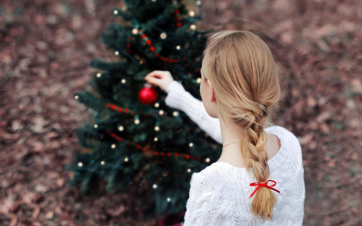 Картинка блондинка новый год
