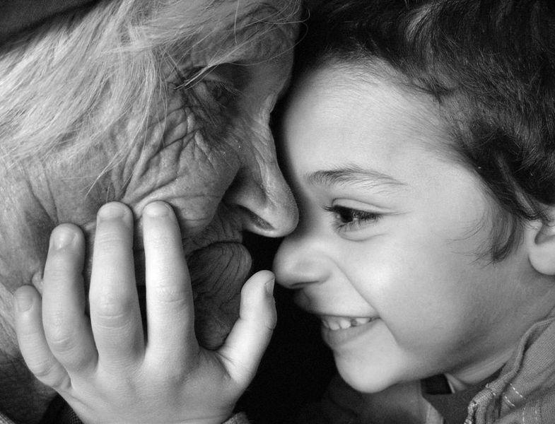 Трогательные фото о маме